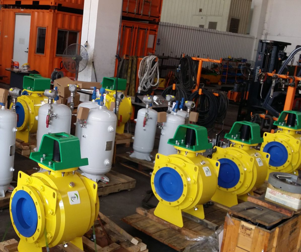 Pneumatic Actuated Valves for ENI Angola FPSO